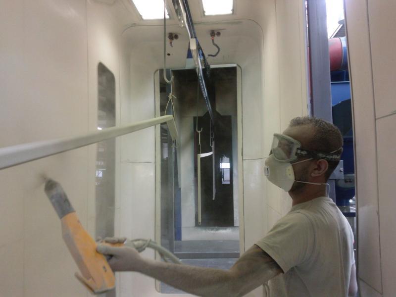 Materiel Application Peinture Electrostatique Par Peinture Janacek