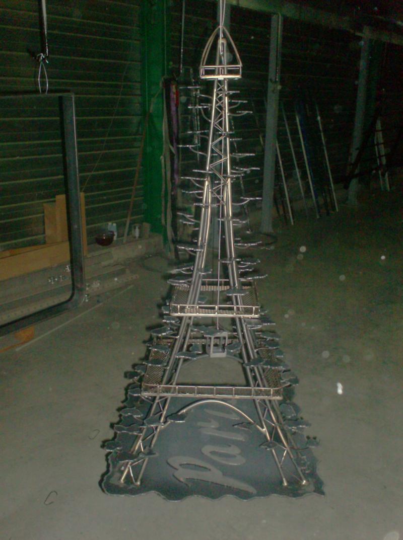 Sculpture aspect brut vernis peinture janacek - Tour eiffel deco ...