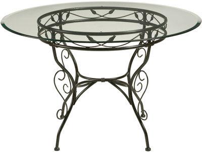 Vernissage sur portail acier par peinture janacek for Table ronde en verre et fer forge